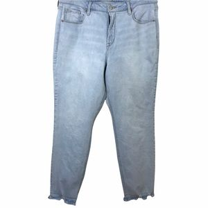 Old Navy Power Straight Highrise Frayed Hems Jeans